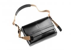 Brooks England Tasche Barbican Leder schwarz Ledertasche