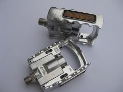 MKS FD-7 silber Falt Pedale mit Reflektor FD7